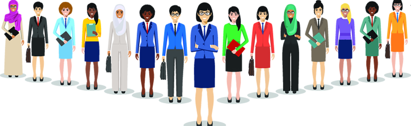 International women illustration