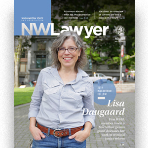 Cover of July/August NWLawyer