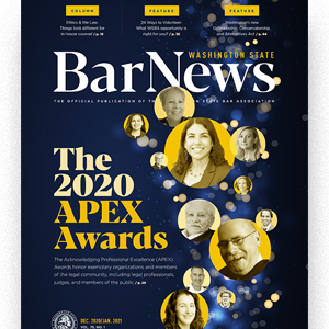 Cover of Bar News December 2020