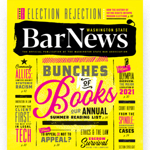 Washington State Bar News July-August 2021 cover