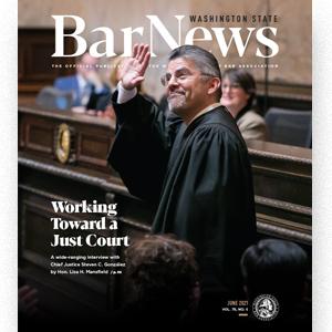 Cover of June 2021 Bar News